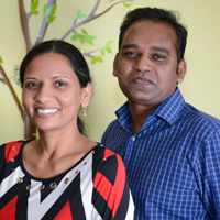 Aruna and Ravi Andrew